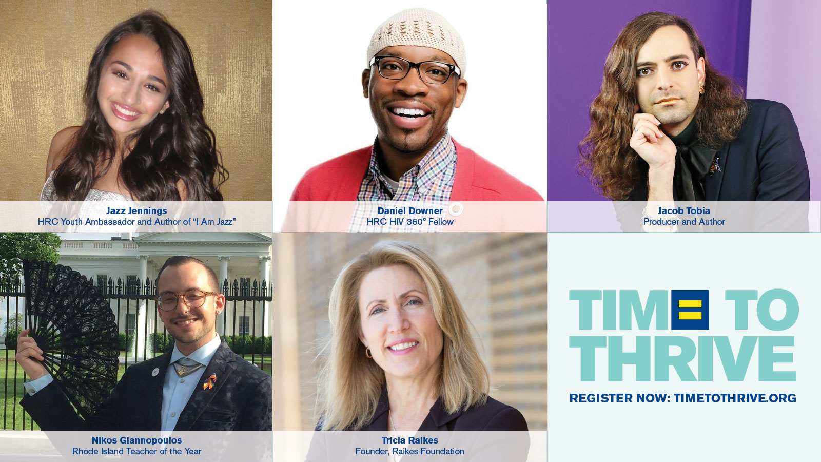 HRC Announces Jazz Jennings Among Special Guests at Time to THRIVE Conference