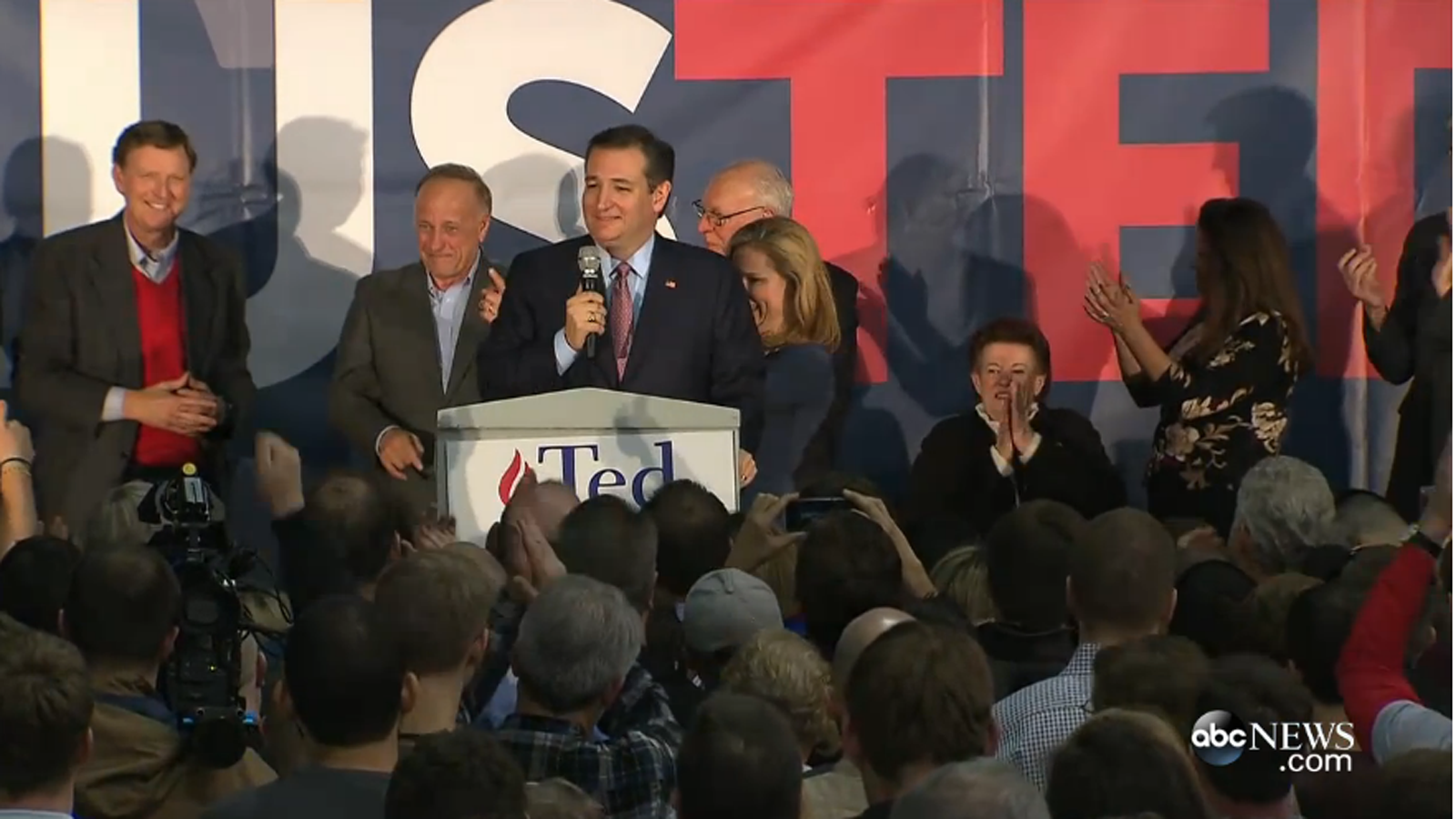Surrounded by Hate: Ted Cruz's Iowa Victory Party Packed ...