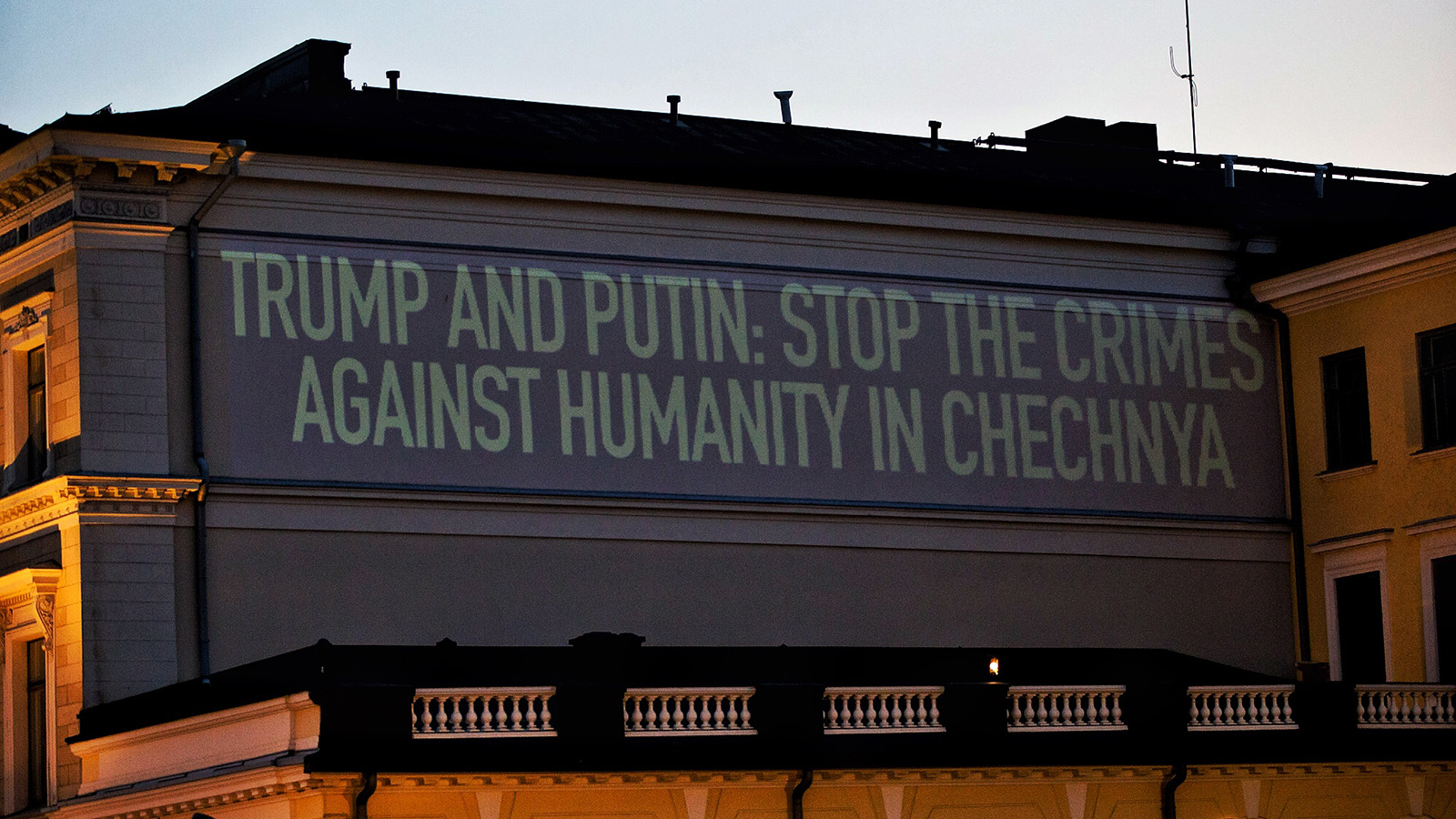 HRC Confronts Trump-Putin With Projection Calling Out Anti-LGBTQ Crimes Against Humanity in Chechnya
