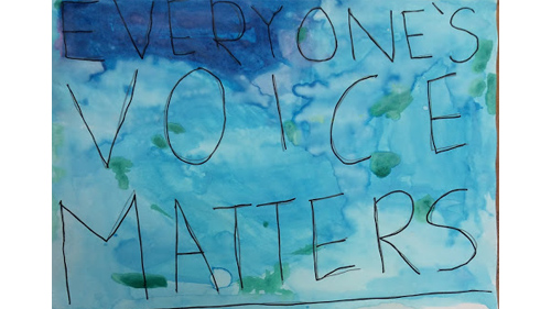 Everyone's voice matters, poem, watercolor, youth, national poetry month Everyone's voice matters, poem, watercolor, youth, national poetry month