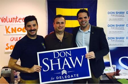 Joe shaw endorsed by gay
