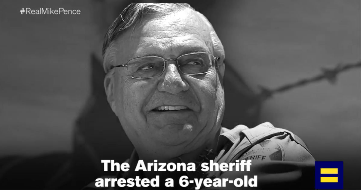 Mike Pence Praises Joe Arpaio