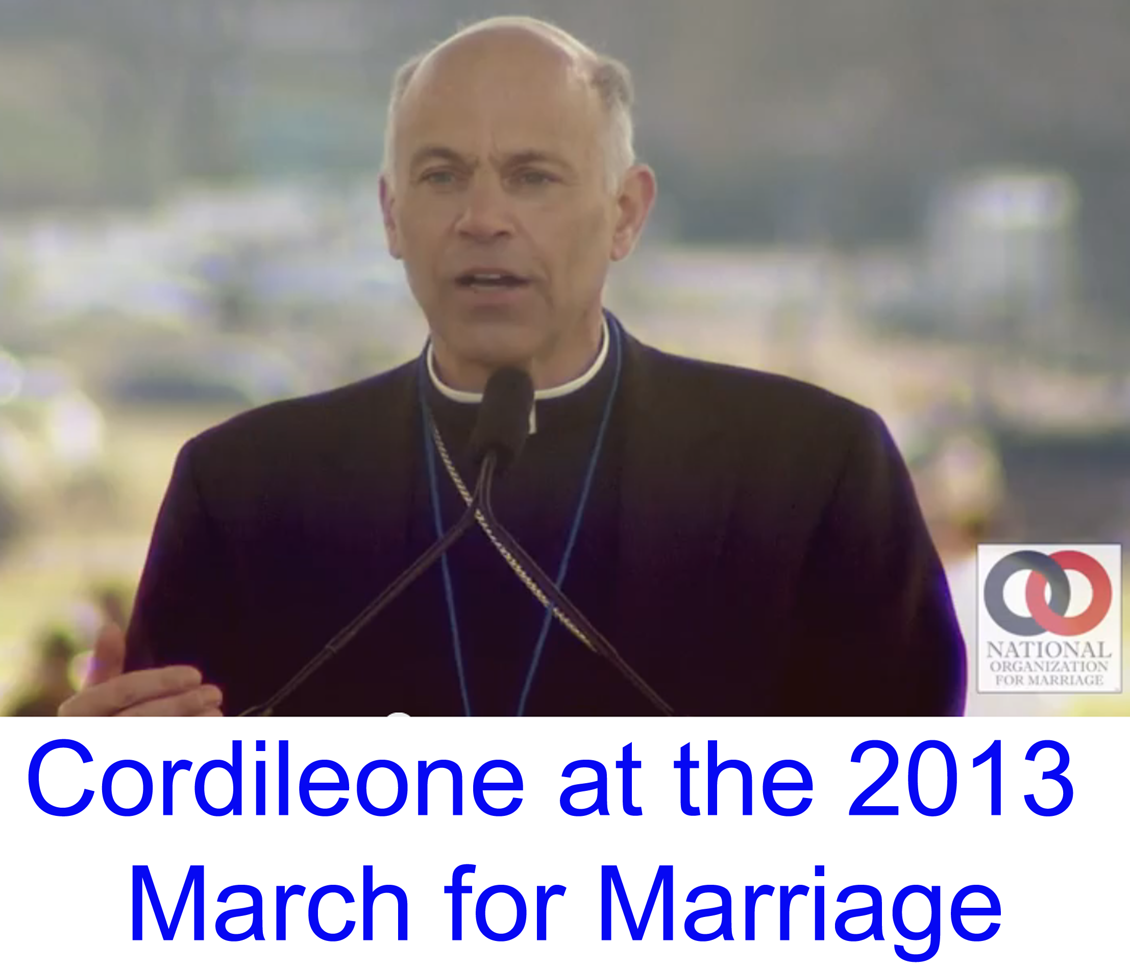 NOM; National Organization for Marriage; March for Marriage; San Francisco Archbishop Salvatore Cordileone