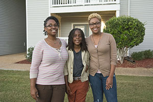 Triana Davis and Jametria Hunter; All God's Children