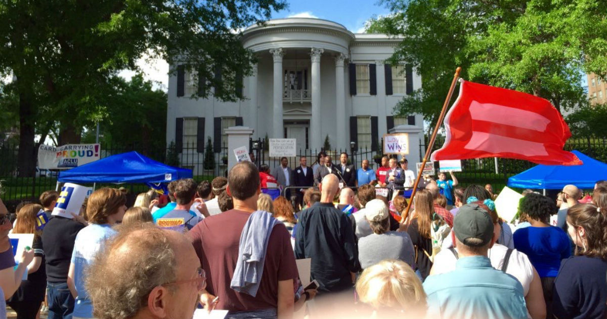 sports shoes 5c118 4d684 Hundreds Rally in MS to Demand Repeal of Discriminatory H.B. 1523   Human  Rights Campaign