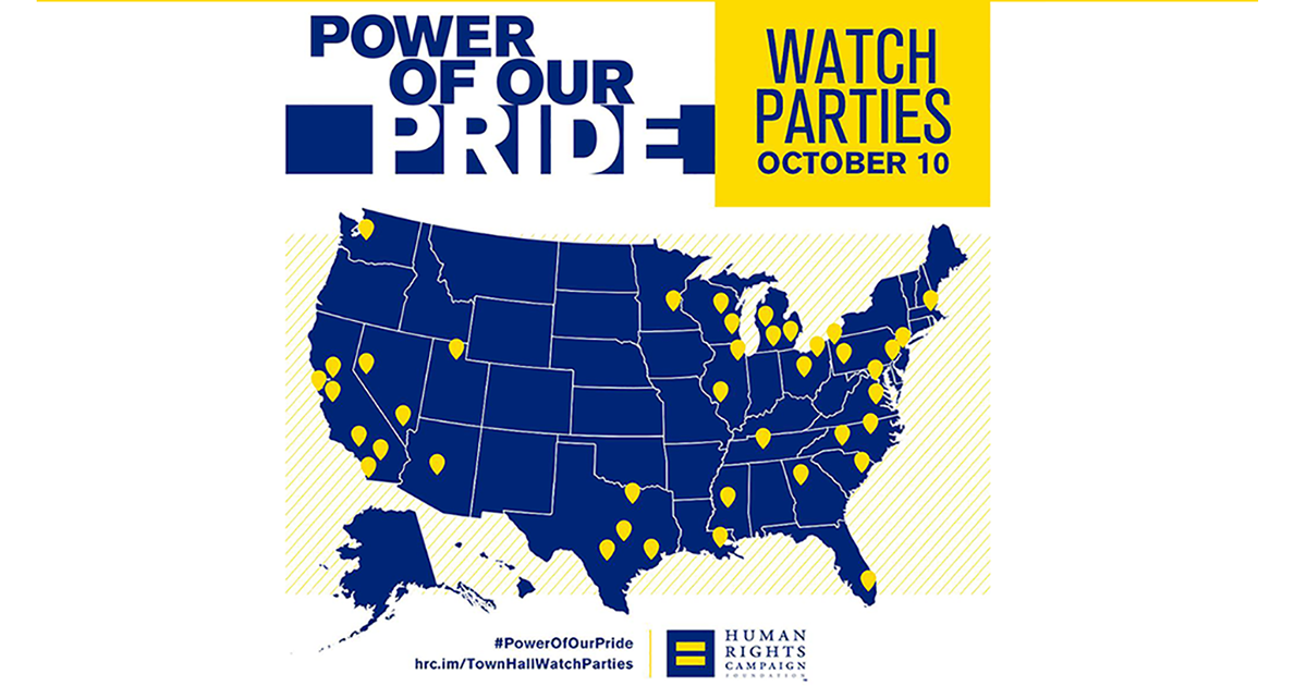 HRC Hosts Nearly 100 Watch Parties for LGBTQ Town Hall