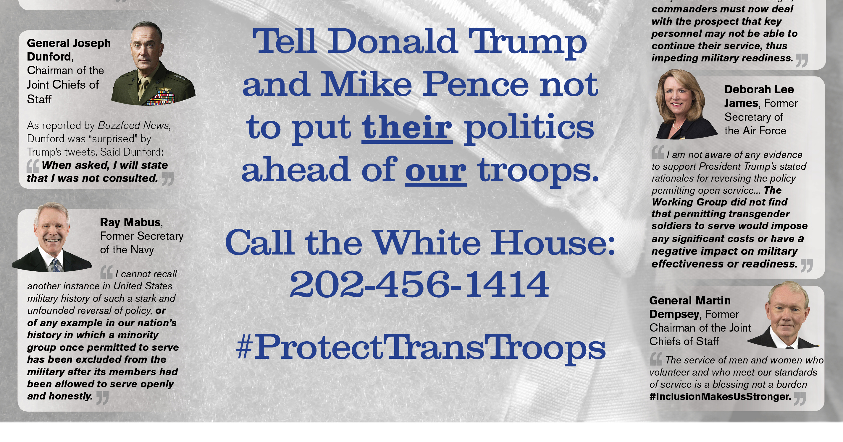 Usa Today Ad Features Bipartisan Opposition To Trans Military Ban