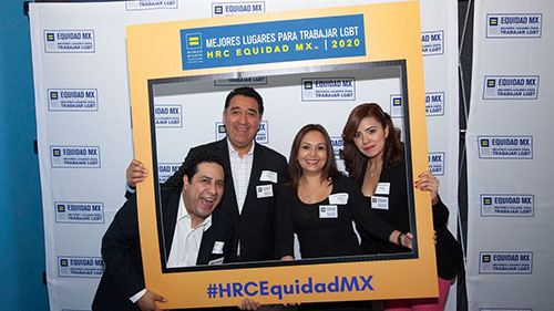 HRC Equidad MX; Global Workplace Equality; Selfie station