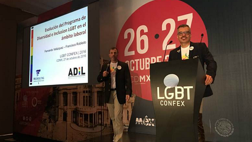 Paco and Fernando present Equidad at LGBT Confex