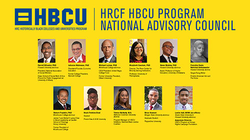 HRCF HBCU Program National Advisory Countil