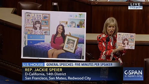 National I Am Jazz Day of Reading; Jackie Speier; House of Representatives