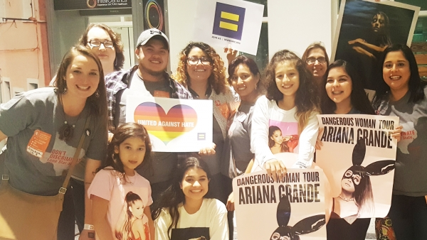 HRC Joins Ariana Grande on Tour in Texas to Advocate for LGBTQ Equality
