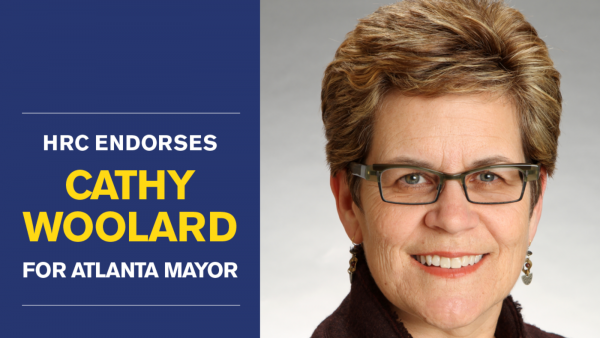 Human Rights Campaign Endorses Cathy Woolard for Mayor of Atlanta