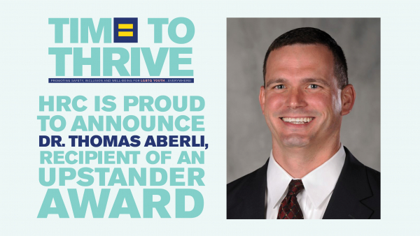 Kentucky Principal to Receive Upstander Award at Time To THRIVE for Supporting Transgender Students