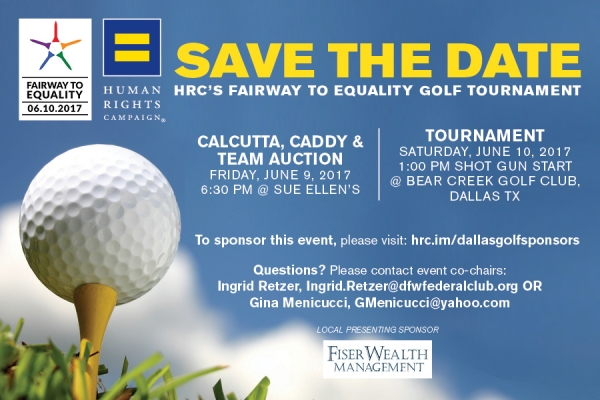 Save the Date: HRC's Fairway to Equality Golf Tournament
