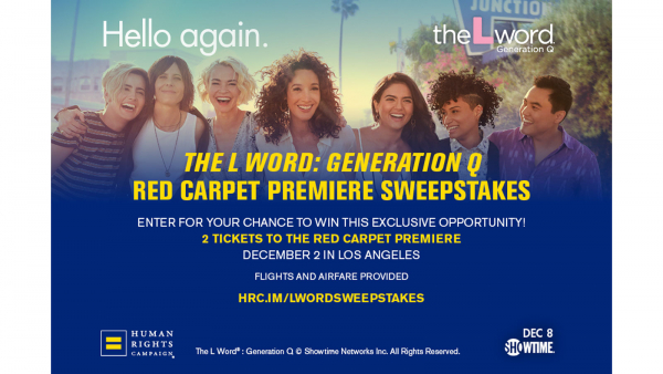 """The L Word®: Generation Q"" Red Carpet Premiere Sweepstakes"