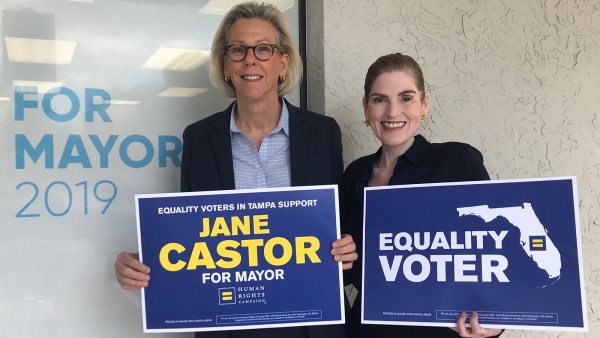 HRC and Equality Florida Action PAC Announce Support for Jane Castor